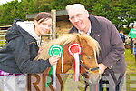 Pat Byrne and Triona Casey at the Kerry Bog Pony show in the Red Fox Inn, Glenbeigh on Saturday.