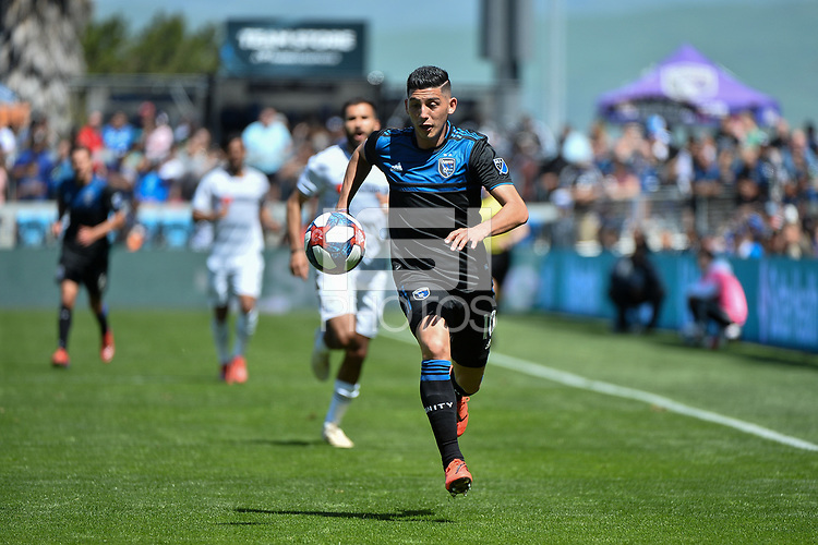 San Jose, CA - Saturday March 30, 2019: A Major League Soccer (MLS) match between the San Jose Earthquakes and the Los Angeles Football Club at Avaya Stadium.