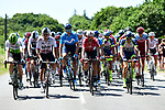 The peloton during Stage 4 of the 2018 Tour de France running 195km from La Baule to Sarzeau, France. 10th July 2018. <br /> Picture: ASO/Alex Broadway | Cyclefile<br /> All photos usage must carry mandatory copyright credit (&copy; Cyclefile | ASO/Alex Broadway)