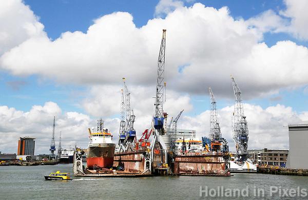 Nederland  Rotterdam - 2017. Haven van Rotterdam. Damen Shiprepair.  Spido rondvaart door de haven.  Foto Berlinda van Dam / Hollandse Hoogte