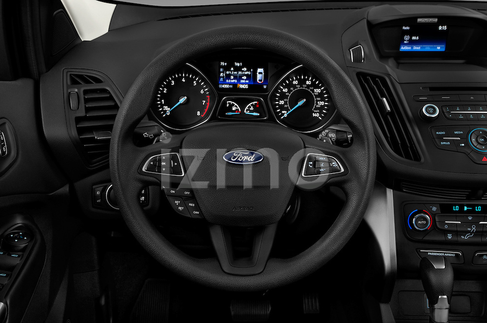 Car pictures of steering wheel view of a 2017 Ford Escape SE 5 Door SUV Steering Wheel