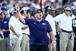 TCU Horned Frogs head coach Gary Patterson in action during the game between the Texas Tech Red Raiders and the TCU Horned Frogs at the Amon G. Carter Stadium in Fort Worth, Texas. TCU defeats Texas Tech 82 to 27.