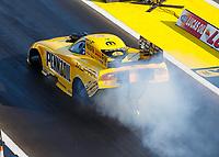 Aug 19, 2017; Brainerd, MN, USA; NHRA funny car driver Matt Hagan during qualifying for the Lucas Oil Nationals at Brainerd International Raceway. Mandatory Credit: Mark J. Rebilas-USA TODAY Sports