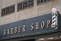 A Barber shop sign is pictured in Hartford, Connecticut, Saturday August 6, 2011.
