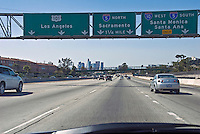 CA, Freeway, I-10, Westbound, Los Angeles CA, Skyline, Road, Freeway, Signs