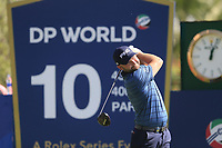 Andy Sullivan (ENG) on the 10th tee during the 3rd round of the DP World Tour Championship, Jumeirah Golf Estates, Dubai, United Arab Emirates. 23/11/2019<br /> Picture: Golffile | Fran Caffrey<br /> <br /> <br /> All photo usage must carry mandatory copyright credit (© Golffile | Fran Caffrey)