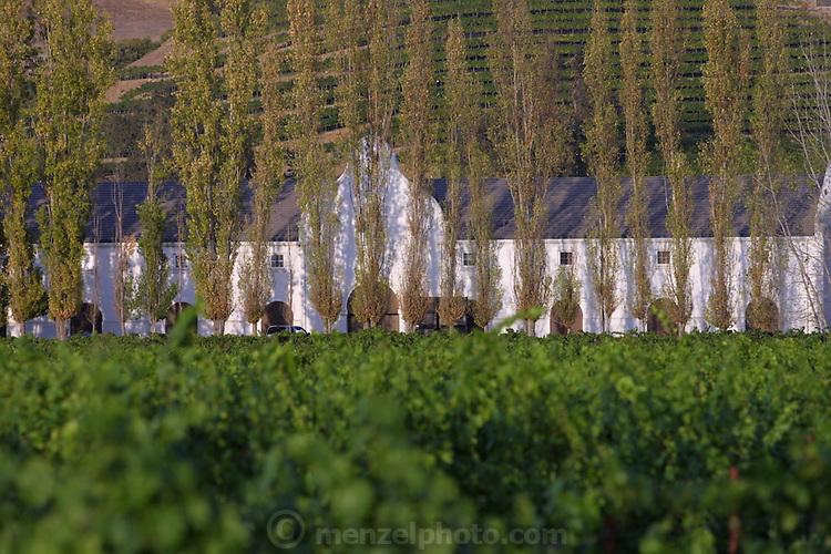 Winery on the Silverado Trail in Napa Valley, California.