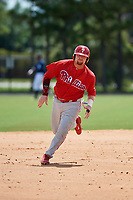 GCL Phillies first baseman Quincy Nieporte (33) runs the bases during a game against the GCL Tigers East on July 25, 2017 at TigerTown in Lakeland, Florida.  GCL Phillies defeated the GCL Tigers East 4-1.  (Mike Janes/Four Seam Images)