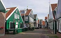 Nederland -  Marken - 2019.  Huizen op Marken. Links het Museum.    Berlinda van Dam / Hollandse Hoogte