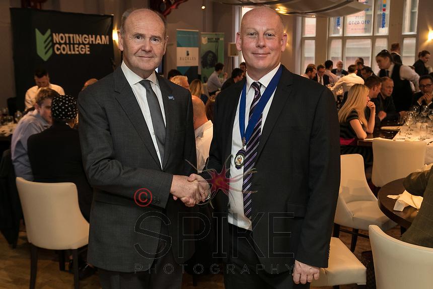 Sir John Peace, Lord Lieutenant of Nottinghamshire with Ian Roberts, NCBC President