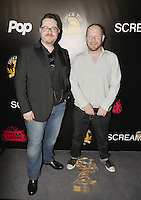 HOLLYWOOD,CA - OCTOBER 18: John Fairfield and Duncan Nicoll attend the TRASH FIRE / Screamfest red carpet at TCL Chinese Theater in Hollywood, California on October 18, 2016. Credit: Koi Sojer/Snap'N U Photos /MediaPunch