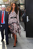NEW YORK, NY - NOVEMBER 1:  Jasmine Tookes seen leaving Good Morning America promoting  the 2018 Victoria's Secret Fashion Show on November 01, 2018 in New York City. <br /> CAP/MPI/RW<br /> &copy;RW/MPI/Capital Pictures