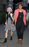 Kimberly Wyatt and Max Rogers at the Bloomsbury Street Kitchen Restaurant Launch Party in London on August 8th 2019<br /> CAP/ROS<br /> ©ROS/Capital Pictures