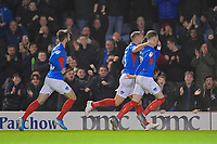 Ronan Curtis of Portsmouth celebrates scoring the first goal during Portsmouth vs Rotherham United, Sky Bet EFL League 1 Football at Fratton Park on 26th November 2019
