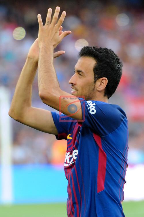52e Trofeu Joan Gamper.<br /> FC Barcelona vs Chapecoense: 5-0.<br /> Sergio Busquets.