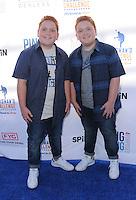 11 August 2016 - Los Angeles, California. Ben Royer, Matthew Royer. Clayton Kershaw's 4th Annual Ping Pong 4 Purpose Celebrity Tournament held at Dodger Stadium. Photo Credit: Birdie Thompson/AdMedia