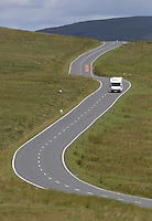 WEATHER PICTURE WALES<br />Pictured: A campervan travels in the Brecon Beacons, Wales, UK<br />Re: Sunshine and high temperatures are due to affect most of the UK this week.