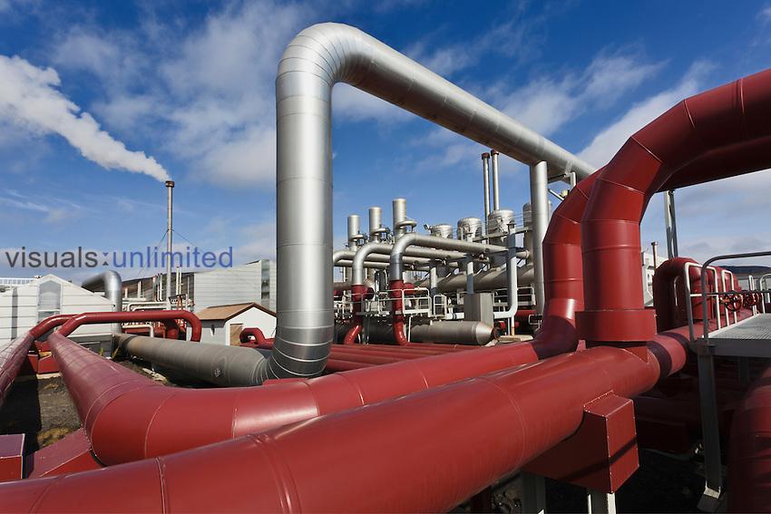 Geothermal industrial plant, Iceland