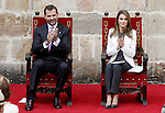 Princes Felipe and Letizia of Spain attend the 'Principe de Viana' 2013 award .June 06,2013. (ALTERPHOTOS/Acero)