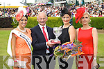 Pictured at Killarney Races Ladies Day on Thursday are Rose of Tralee, Tara Talbot, Ger Coughlan, Queen of Fashion, Ciara Kelly and Yvonne Keating.