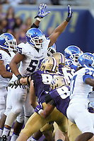 Sept 20, 2014:  Georgia State's Carnell Hopson against Washington.  Washington defeated Georgia State 45-14 at Husky Stadium in Seattle, WA.