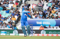 MS Dhoni (India) pulls to mid wicket during India vs New Zealand, ICC World Cup Warm-Up Match Cricket at the Kia Oval on 25th May 2019