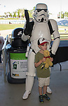 "Young Aces fans pose with Star Wars characters during the Reno Aces ""Star Wars Night"" game at Greater Nevada Field in Reno on Saturday, June 17, 2017."