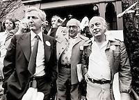 Montreal, Quebec, . Ren&Egrave; Levesque Quebec Premier.PAUL DESMARAIS,LOUIS LABERGE<br /> <br /> Photo:Jacques Nadeau