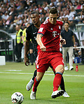 12.08.2018, Commerzbank - Arena, Frankfurt, GER, Supercup, Eintracht Frankfurt vs FC Bayern M&uuml;nchen , <br />DFL REGULATIONS PROHIBIT ANY USE OF PHOTOGRAPHS AS IMAGE SEQUENCES AND/OR QUASI-VIDEO.<br />im Bild<br />Sebastien Haller (Frankfurt), Niklas S&uuml;le (M&uuml;nchen)<br /> <br /> Foto &copy; nordphoto / Bratic