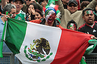 Mexico Fan. Mexico defeated Paraguay 3-1 at the Oakland Coliseum in Oakland, California on March 26th, 2011.
