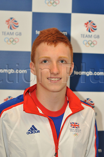 9.08.2010: The GB Youth Olympic Team and Officials. The British team prepare to fly to Singapore for the first ever Youth Olympics. The picture shows Nathan Baily from Bournemouth who is competing in the Trampoline.