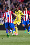 Cedric Bakambu of Villarreal CF during the La Liga match between Atletico de Madrid vs Villarreal CF at the Estadio Vicente Calderon on 25 April 2017 in Madrid, Spain. Photo by Diego Gonzalez Souto / Power Sport Images