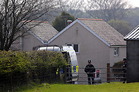 "Pictured: Police at the house of Janet Ajao, mother of Khalid Masood in Trelech, Carmarthenshire, Wales, UK. 27 March 2017<br /> Re: Janet Ajao, the mother of Khalid Masood, who was responsible for the terrorist attack in Lonodn has released the following statement: ""I am so deeply shocked, saddened and numbed by the actions my son has taken that have killed and injured innocent people in Westminster.<br /> Since discovering that it was my son that was responsible I have shed many tears for the people caught up in this horrendous incident.<br /> I wish to make it absolutely clear, so there can be no doubt, I do not condone his actions nor support the beliefs he held that led to him committing this atrocity.<br /> I wish to thank my friends, family and community from the bottom of my heart for the love and support given to us."""
