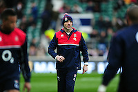 England defence coach Paul Gustard looks on during the pre-match warm-up. RBS Six Nations match between England and Ireland on February 27, 2016 at Twickenham Stadium in London, England. Photo by: Patrick Khachfe / Onside Images
