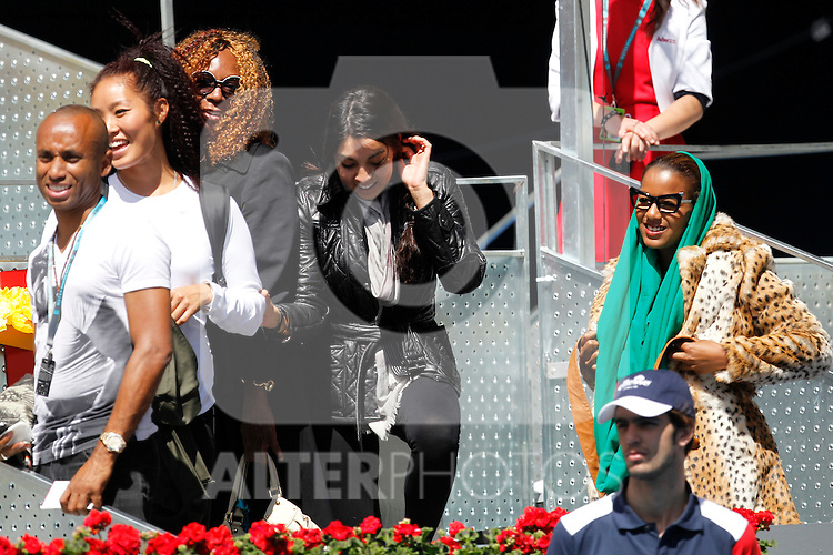 Serena Williams's relatives during Mutua Madrid Open 2012 match on may 7th 2012...Photo: Cesar Cebolla / ALFAQUI