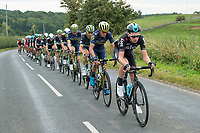 Picture by Allan McKenzie/SWpix.com - 04/09/2017 - Cycling - OVO Energy Tour of Britain - Stage 2 Kielder Water to Blyth - Sky's Tao Geoghegan Hart leads the peloton.