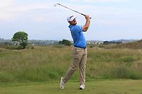 Stephen Watts (Cairndhu) on the 15th tee during Round 3 of the East of Ireland Amateur Open Championship 2018 at Co. Louth Golf Club, Baltray, Co. Louth on Monday 4th June 2018.<br /> Picture:  Thos Caffrey / Golffile<br /> <br /> All photo usage must carry mandatory copyright credit (&copy; Golffile | Thos Caffrey