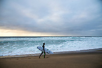 BELLS BEACH, Victoria/AUS (Monday, April 3, 2016) - Action at the Rip Curl Pro Bells Beach, the second stop on the World Surf League (WSL) Championship Tour (CT), continued today with Matt  Wilkinson (AUS) defeating Jordy Smith (ZAF) in the 40 minute final.. <br />  The surf was in the 8' plus range all morning and the contest ran from the last two heats of Round Five through to the final.<br /> Wilkinson was the first goofy footer to win the event in the past 17 years and has now gone back to back with WCT wins after taking the first contest of the year on the Gold Coast.<br /> Sentimental favourite  and defending champion Mick Fanning (AUS was defeated by Smith in the Semi's. <br /> <br /> Bells Beach has been hosting surfing tournaments for more than 50 years now, making it the most renowned spot on the raw and rugged southern coast of Victoria, Australia. The list of  Rip Curl Pro event champions is a veritable who's who of surfing icons, including many world champions.<br /> <br /> Surfing's greats have a way of dominating Bells. Mark Richards, Kelly Slater, and Mick Fanning all have four Bells trophies; Michael Peterson and Sunny Garcia, three; While Simon Anderson, Tom Curren, Joel Parkinson, Andy Irons, and Damien Hardman each grabbed a pair.<br /> <br /> The story is similar on the women's side. Lisa Andersen and Stephanie Gilmore have four Bells titles; Layne Beachley and Pauline Menczer, three; while Kim Mearig and Sally Fitzgibbons each have two.<br /> <br /> The 2016 event is about to kick off tomorrow and there was a packed warm up session at Bells this morning. <br /> Photo: joliphotos.com