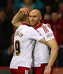 Sheffield United's Conor Sammon celebrates his goal - Sheffield United vs Bradford City - Skybet League One - Bramall Lane - Sheffield - 28/12/2015 Pic Philip Oldham/SportImage