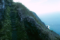 Steps along the hillside between the leper colony on the Kalaupapa peninsula and the main road in Molokai in 1995.
