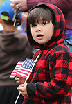 Tiberius Chaguya, 3, and his family were among the nearly 100 people participating in the third annual Veterans Suicide Awareness March in Carson City, Nev., on Saturday, May 6, 2017. The event, put on by  Western Nevada College Student Veterans Club and the Veterans Resource Center, raises awareness of the more than 8,000 veteran suicides each year in the U.S.<br />Photo by Cathleen Allison/Nevada Photo Source