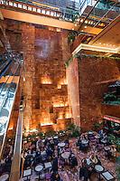 New York City - Inner  The Trump in 5Av, headquarters of Donald Trump President USA  - Photo Adamo Di loreto/BuenaVista*photo<br /> <br /> ----<br /> <br /> New York, interno della Trump Tower situata sulla 5a strada, oggi quartier generale del Presidente USA Donald Trump. Foto di Adamo Di Loreto per BuenaVista*photo