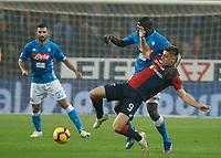 Krzysztof Piatek of Genoa  during  Genoa -   Napoli Stadio Luigi Ferraris, Genoa, Italy; Serie A football 10th November 2018