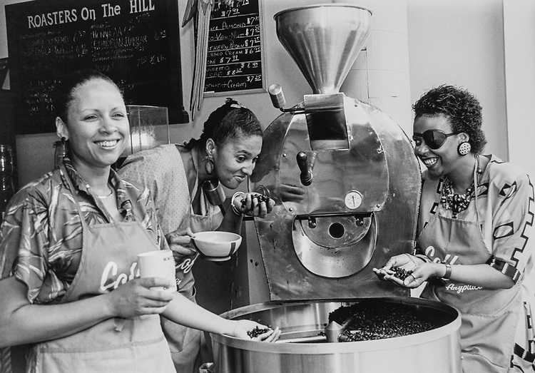 Roaster on the Capitol Hill, Estelle O'Connor, Carla Wing, Yuonne Nicholson. (Photo by Maureen Keating/CQ Roll Call via Getty Images)