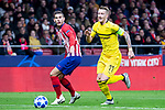 Atletico de Madrid Lucas Hernandez and Borussia Dortmund Marco Reus during group stage of UEFA Champions League match between Atletico de Madrid and Borussia Dortmund at Wanda Metropolitano in Madrid, Spain.November 06, 2018. (ALTERPHOTOS/Borja B.Hojas)