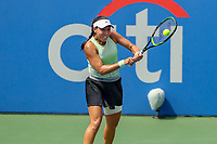 Washington, DC - August 4, 2019:  Jessica Pegula (USA) hits a backhand shot during the Citi Open WTA Singles final at William H.G. FitzGerald Tennis Center in Washington, DC  August 4, 2019.  (Photo by Elliott Brown/Media Images International)
