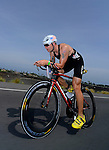KAILUA-KONA, HI - OCTOBER 12:  Andrew Starykowicz of USA competes in the bike portion during the 2013 Ironman World Championship on October 12, 2013 in Kailua-Kona, Hawaii. (Photo by Donald Miralle) *** Local Caption ***