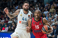 Real Madrid Jeffery Taylor and Baskonia Vitoria Jayson Granger during Turkish Airlines Euroleague match between Real Madrid and Baskonia Vitoria at Wizink Center in Madrid, Spain. January 17, 2018. (ALTERPHOTOS/Borja B.Hojas) (NortePhoto.com NORTEPHOTOMEXICO)