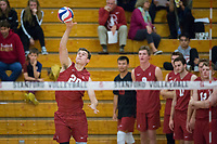 STANFORD, CA - December 30, 2017: Cole Paullin at Burnham Pavilion. The Stanford Cardinal defeated the Calgary Dinos 3-1.