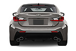 Straight rear view of a 2018 Lexus RC F 3 Door Coupe stock images